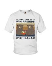 Vintage Bear You Dont Win Friends Salad Shirt Youth T-Shirt thumbnail