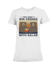 Vintage Bear You Dont Win Friends Salad Shirt Premium Fit Ladies Tee thumbnail