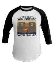 Vintage Bear You Dont Win Friends Salad Shirt Baseball Tee thumbnail
