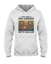 Vintage Bear You Dont Win Friends Salad Shirt Hooded Sweatshirt thumbnail