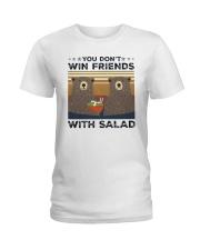 Vintage Bear You Dont Win Friends Salad Shirt Ladies T-Shirt thumbnail