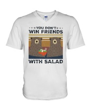 Vintage Bear You Dont Win Friends Salad Shirt V-Neck T-Shirt thumbnail