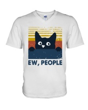 Vintage Cat Ew People Shirt V-Neck T-Shirt thumbnail