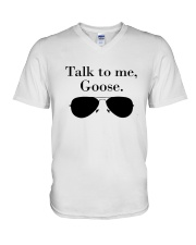 Glasses Talk To Me Goose Shirt V-Neck T-Shirt thumbnail