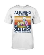 Vintage Sewing Masks Assuming Im Just Old Shirt Premium Fit Mens Tee thumbnail