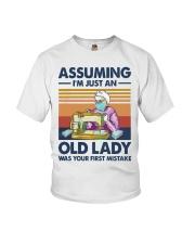 Vintage Sewing Masks Assuming Im Just Old Shirt Youth T-Shirt thumbnail
