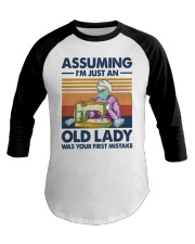 Vintage Sewing Masks Assuming Im Just Old Shirt Baseball Tee thumbnail