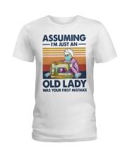 Vintage Sewing Masks Assuming Im Just Old Shirt Ladies T-Shirt thumbnail