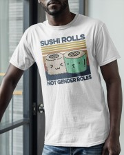 Vintage Sushi Rolls Not Gender Roles Shirt Classic T-Shirt apparel-classic-tshirt-lifestyle-front-39