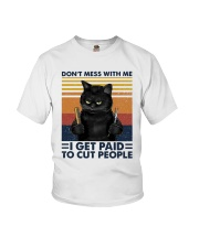 Vintage Cat Dont Mess With Me I Get Paid Shirt Youth T-Shirt thumbnail