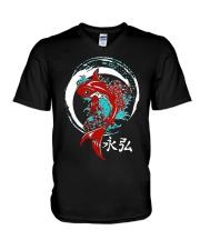 Koi Circle Japanese Shirt V-Neck T-Shirt thumbnail