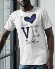 Love The Blue Shirt Classic T-Shirt apparel-classic-tshirt-lifestyle-front-39