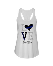 Love The Blue Shirt Ladies Flowy Tank thumbnail