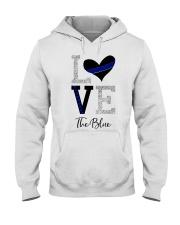 Love The Blue Shirt Hooded Sweatshirt thumbnail