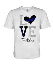 Love The Blue Shirt V-Neck T-Shirt thumbnail