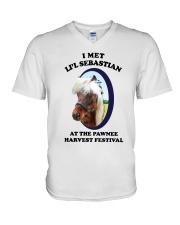 I Met Lil Sebastian Shirt V-Neck T-Shirt thumbnail
