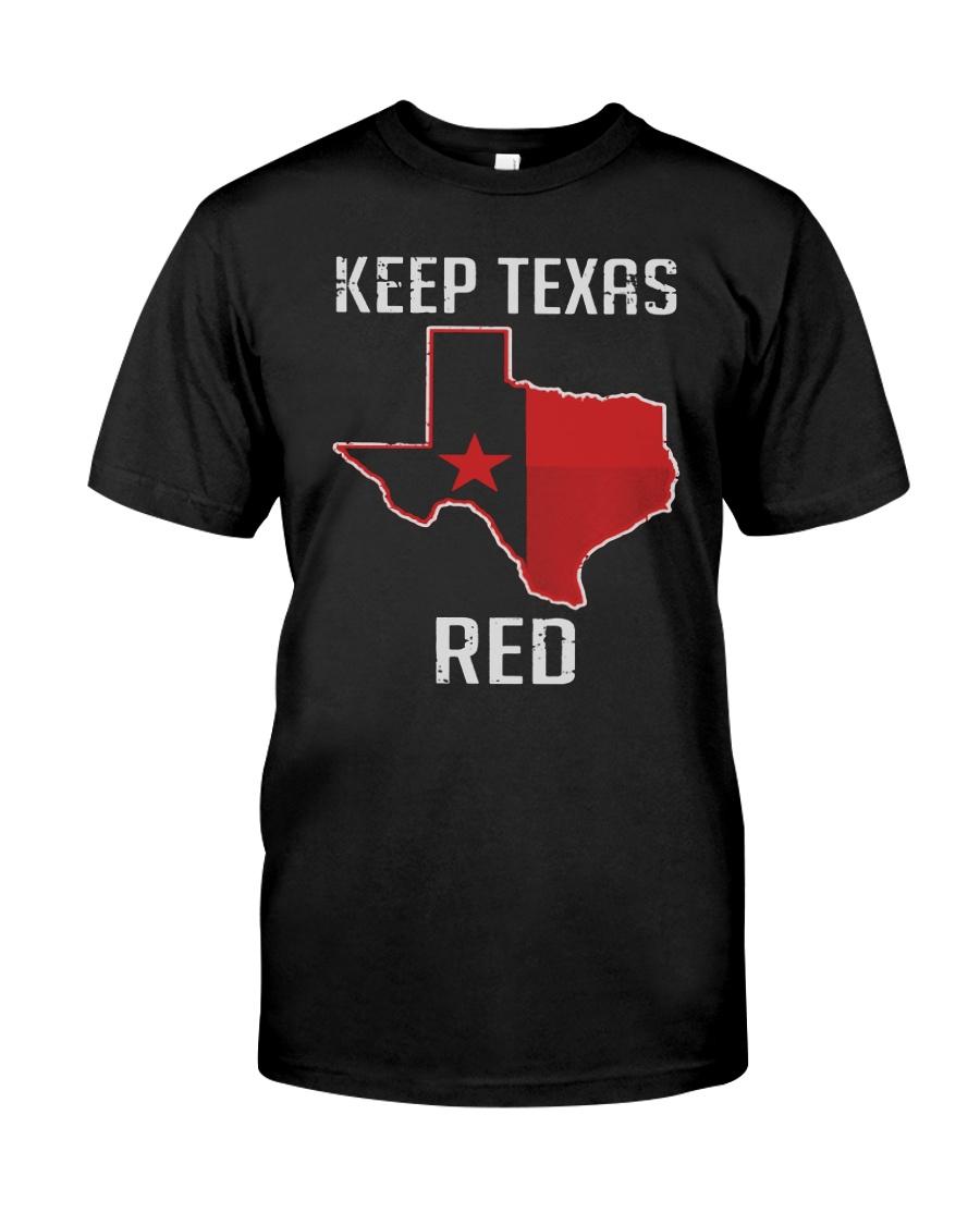 Flag Keep Texas Red Shirt Premium Fit Mens Tee
