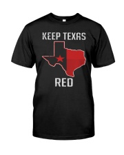 Flag Keep Texas Red Shirt Premium Fit Mens Tee front