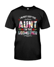 Floral I'm Not Just The Aunt I'm Godmother Shirt Premium Fit Mens Tee front