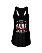 Floral I'm Not Just The Aunt I'm Godmother Shirt Ladies Flowy Tank tile