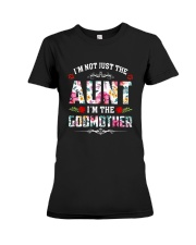 Floral I'm Not Just The Aunt I'm Godmother Shirt Premium Fit Ladies Tee thumbnail