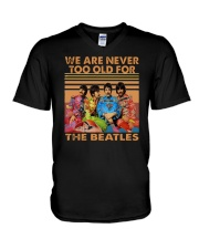 Vintage We Are Never Too Old For The Beatles Shirt V-Neck T-Shirt thumbnail