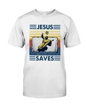 Vintage Soccer Jesus Saves Shirt Classic T-Shirt front