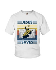 Vintage Soccer Jesus Saves Shirt Youth T-Shirt thumbnail