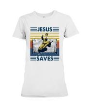 Vintage Soccer Jesus Saves Shirt Premium Fit Ladies Tee thumbnail