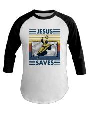 Vintage Soccer Jesus Saves Shirt Baseball Tee thumbnail