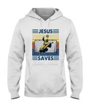 Vintage Soccer Jesus Saves Shirt Hooded Sweatshirt thumbnail