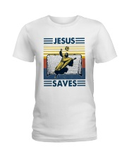 Vintage Soccer Jesus Saves Shirt Ladies T-Shirt thumbnail