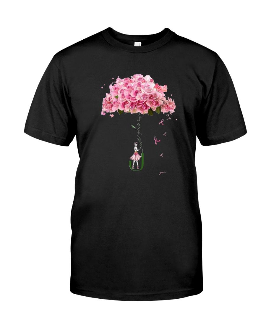 Flower Umbrella Never Give Up Shirt Classic T-Shirt