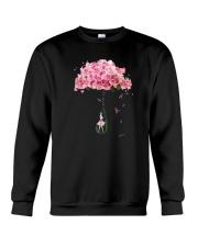 Flower Umbrella Never Give Up Shirt Crewneck Sweatshirt thumbnail