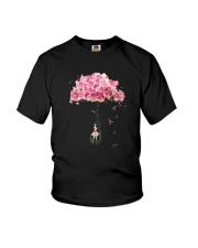 Flower Umbrella Never Give Up Shirt Youth T-Shirt thumbnail