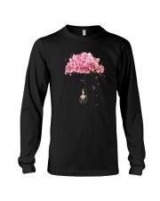 Flower Umbrella Never Give Up Shirt Long Sleeve Tee thumbnail