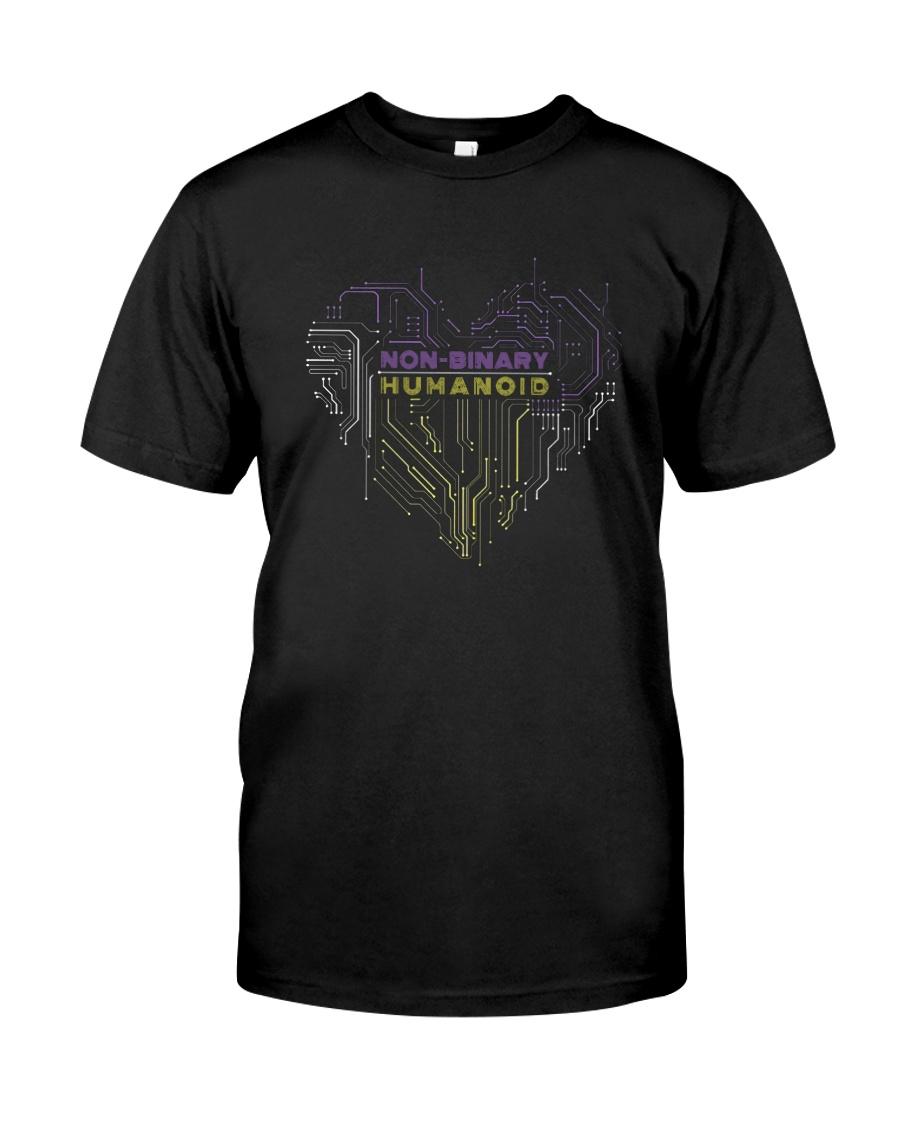 Lgbt Non Binary Humanoid Shirt Classic T-Shirt