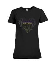 Lgbt Non Binary Humanoid Shirt Premium Fit Ladies Tee thumbnail
