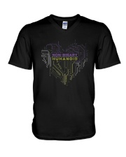 Lgbt Non Binary Humanoid Shirt V-Neck T-Shirt thumbnail