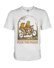 Frog And Toad Fuck The Police Shirt V-Neck T-Shirt thumbnail