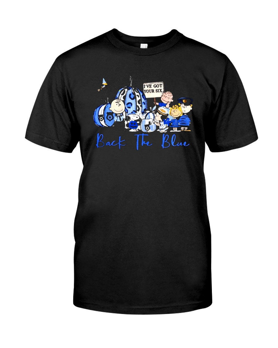 The Peanuts Ive Got Your Six Back The Blue Shirt Classic T-Shirt