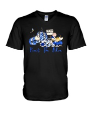 The Peanuts Ive Got Your Six Back The Blue Shirt V-Neck T-Shirt thumbnail
