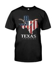 American Flag Texas Longhorn Shirt Premium Fit Mens Tee front