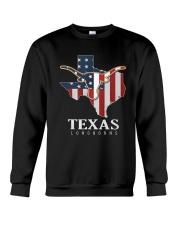 American Flag Texas Longhorn Shirt Crewneck Sweatshirt thumbnail