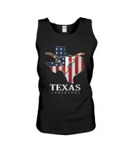 American Flag Texas Longhorn Shirt Unisex Tank thumbnail