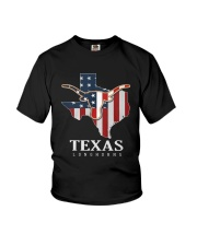 American Flag Texas Longhorn Shirt Youth T-Shirt thumbnail