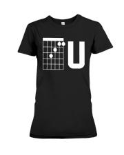 Guitar Chords F U Shirt Premium Fit Ladies Tee thumbnail