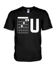 Guitar Chords F U Shirt V-Neck T-Shirt thumbnail