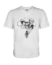 Astronaut Planet Solar Balloon Shirt V-Neck T-Shirt tile