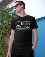 John Galt '20 You Know Who I Am Shirt Classic T-Shirt apparel-classic-tshirt-lifestyle-17